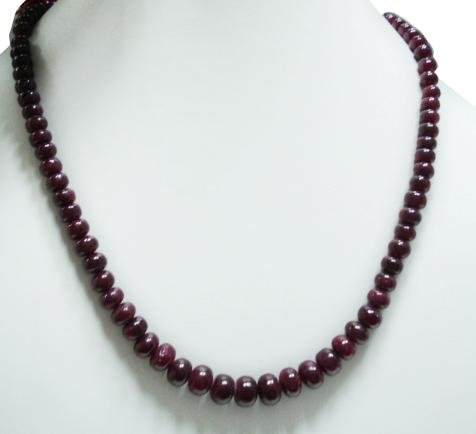 Stunning Natural Cabochon Ruby Gemstone Necklace Beads