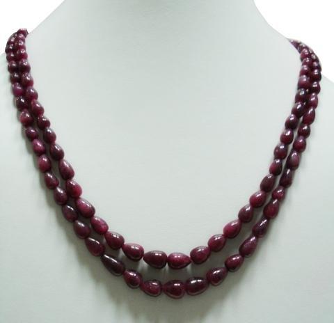 Stunning Natural Red Ruby Gemstone Neckalce Drop
