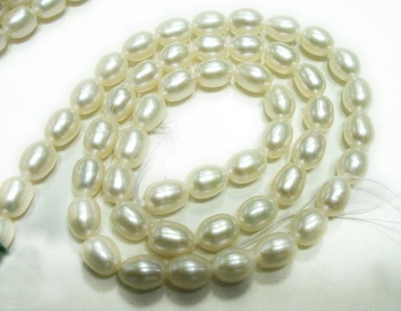 Natural fresh water pearl gemstone Necklace 6mm