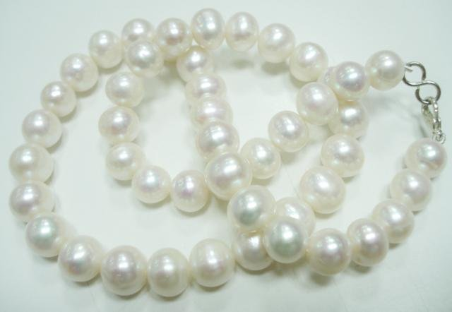 Natural fresh water pearl gemstone Necklace 9-10mm