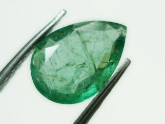 0.86cts Natural Colombian Green Emerald Gemstone Pear