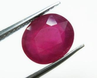 1.80cts stunning natural African Ruby gemstone oval