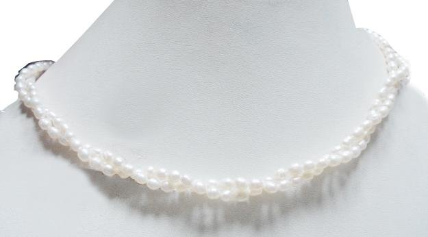 2Strand Fresh Water Pearl Gemstone Necklace 4mm