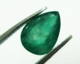 0.70cts Natural Colombian Green Emerald Gemstone Pear