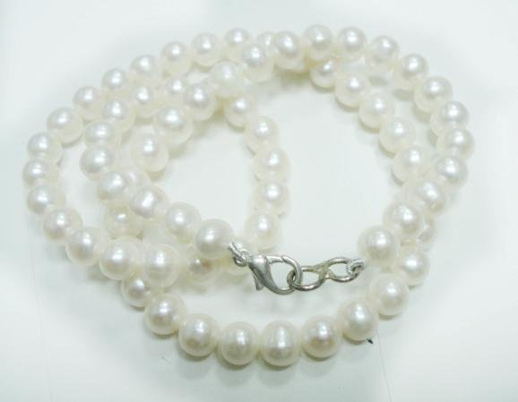 Natural fresh water pearl gemstone Necklace 5.5-6mm