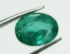 0.95cts Natural Colombian Green Emerald Gemstone Oval