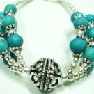 21.24gms Handcrafted German Silver & Turquoise Bracelet