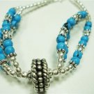 14.71gms Handcrafted German Silver & Turquoise Bracelet