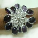 9.71gm Handcrafted Amethyst Gemstone & Silver Ring