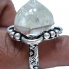 9.89gm Handcrafted Sterling Silver & Gemstone Ring