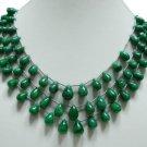 Natural green Emerald Gemstone briolette necklace  rare