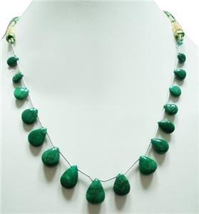 Designer colombian Emerald Gemstone briolette Necklace