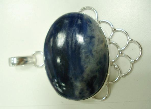 18.34Gms Handcrafted Agate Gemstone & Silver Ring