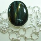31.69gm Handcrafted Agate Gemstone & Silver Bracelet