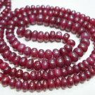 "16 "" Strand Natural Ruby Beaded Gemstone cabochone rare"
