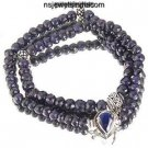 Blue Sapphire natural facetted bead Gemstone Necklace !