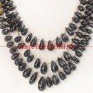 designer natural sapphire gemstone drop necklace