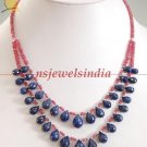 Stunning natural ruby & sapphire gemstone Necklace