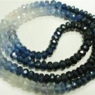 A++fine Natural Sapphire shaded Beaded gemstone strand