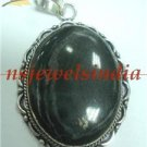 15.73gms Designer  natural onyx gemstone silver pendant