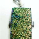12.91gms Designer natural gemstone silver pendant