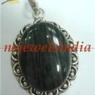 16.21gms Handcrafted agate gemstone silver pendant