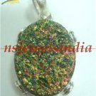 16.36gms Magnificent natural gemstone & silver pendant