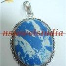 18.91gms Handmade natural agate gemstone silver pendant