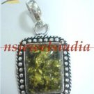 9.29gms Handcrafted natural gemstone silver pendant