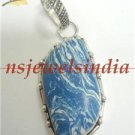 12.61gms Handcrafted agate gemstone silver pendant