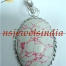 16.87gms Handcrafted agate gemstone & silver pendant