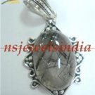 10.24gms Magnificent natural gemstone & silver pendant