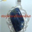 10.41gms Handmade agate gemstone & silver pendant