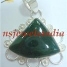11.12gms Handmade Natural agate gemstone silver pendant