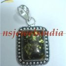 9.89gms Magnificent natural gemstone & silver pendant