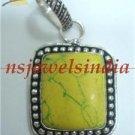 12.44gms Designer natural agate gemstone silver pendant