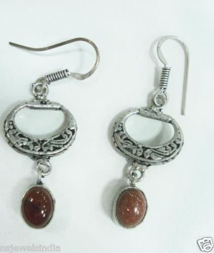 6.64 gm Stunning Designer Gemstone Silver Earring