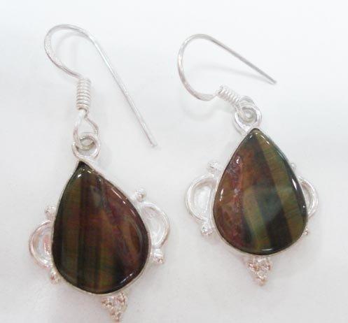 8.47 gm Stunning Designer  Gemstone Silver Earring