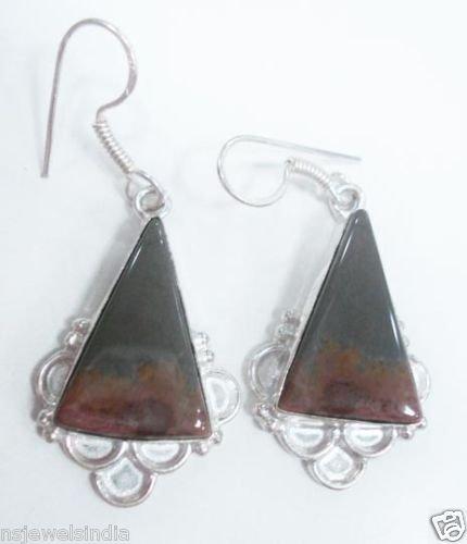 12.38 gm Stunning Designer Gemstone Silver Earrings