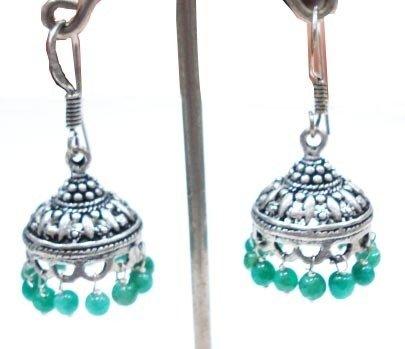 9.46 gm Stunning Aventurine  Gemstone Silver Earrings