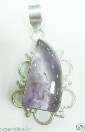 11.95 gm Stunning Amythist Gemstone Silver Pendant