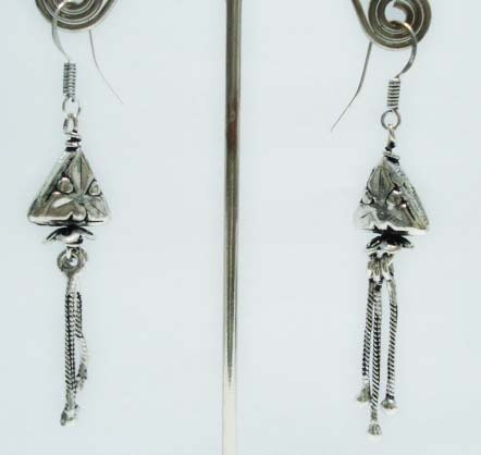 6.97 gms Stunning  Designer German silver Earrings