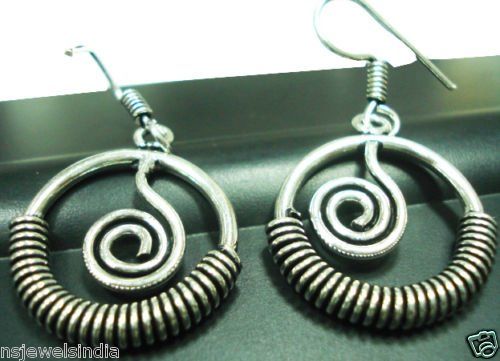 9.60 gms Magnificent Designer German silver Earrings