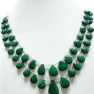 1 Natural Emerald Gemstone briollite drops  Necklace stunning