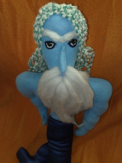 The King Neptune, father of Marry the Mermaid, primitive folk art doll, OOAK