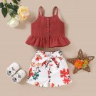 Baby Girl Toddler Kids Tops+Short sz 18M  24M  3T 4T