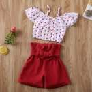 Baby Girl Kids Dot Tops+Shorts sz 18M  24M  3T 4T