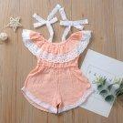 Baby Girl Kids Lace Romper Jumpsuit sz 24M 3T 4T 5T 6T