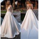 Floor Length Satin Wedding Dress