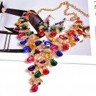 45cm Rainbow Crystals Party Necklace Sets